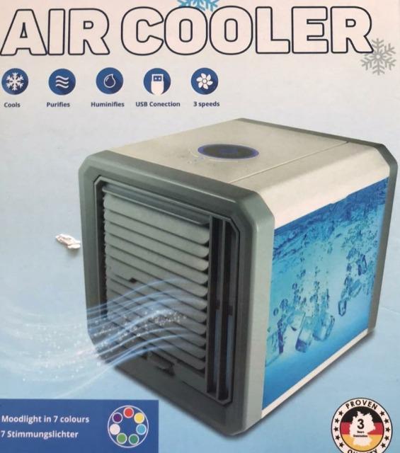 Air Cooler Luftkühler / Kühlt - Erfrischt - Befeuchtet inkl Stimmungslichter inkl Filter Klimaanlage Klimagerät Ventilator A WARE NEU