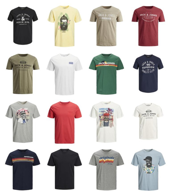 Jack & Jones T-Shirts Herren Mix Jack and Jones Shirts