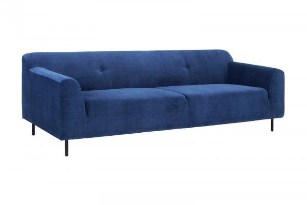 Sofa Oswego 3Sitzer Stoff blau