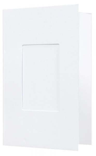 Passbild Mappen Weiß / Matt