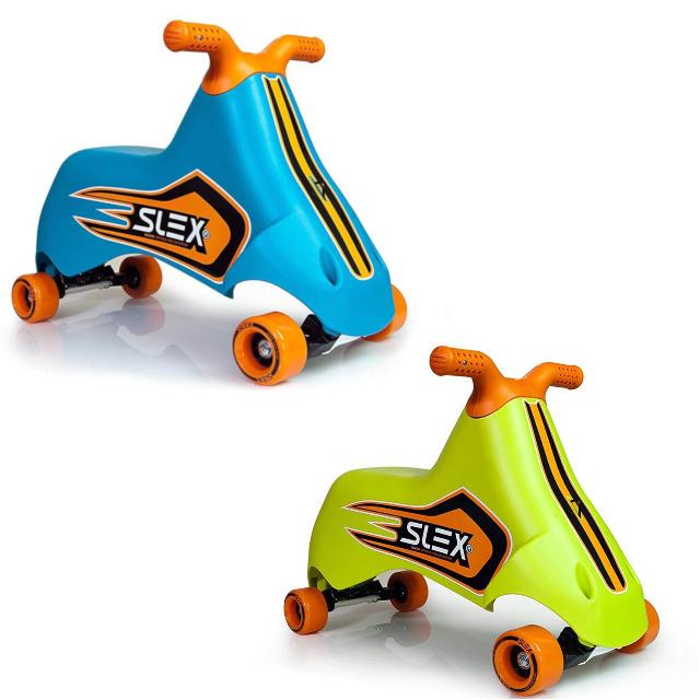 SLEX RACER Rutschfahrzeug in blau oder grün Kinder Rutschauto ABEC 3 Longboard Rollen bis 35kg Kleinkinder Auto Rennen