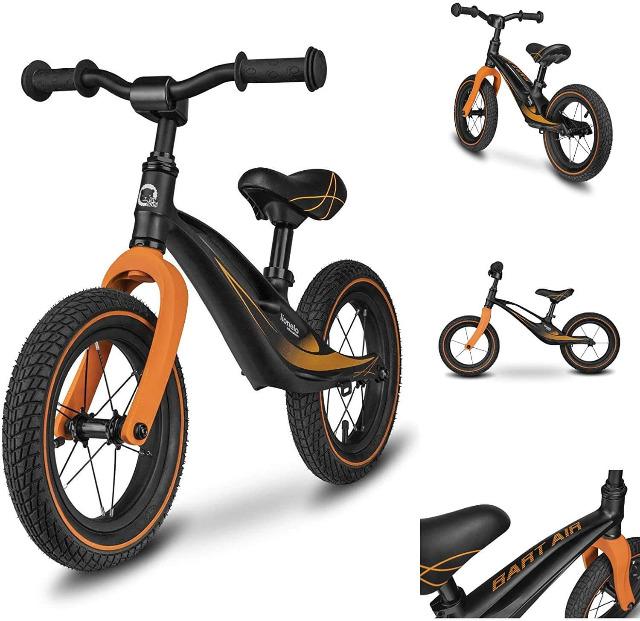 Lionelo Bart Air ultraleichtes Laufrad mit Magnesiumrahmen in schwarz ab 2Jahre bis 30kg Fahrrad Tretroller Tretbike
