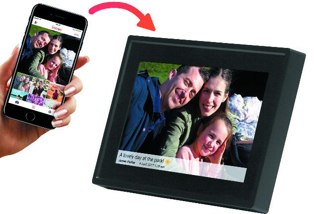 DENVER PFF-711BLACK & WHITE 7-Zoll-Digital-Wi-Fi-Fotorahmen