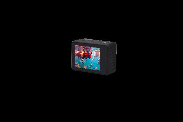 DENVER ACK-8062W 4K Action Cam mit Wi-Fi Funktion und Bildschirm auf der Rückseite 5Mpixel CMOS-Sensor, 130 ° fester Winkel