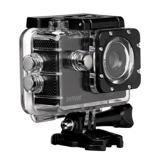 DENVER ACT-320 Action-Kamera mit wiederaufladbarem Akku und 2-Zoll-TFT-Bildschirm auf der Rückseite
