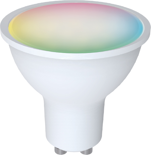 DENVER SHL-450 GU10 RGB WI-FI LICHT SPOT TUYA-kompatibler & Google-Assistent / Amazon Alexa