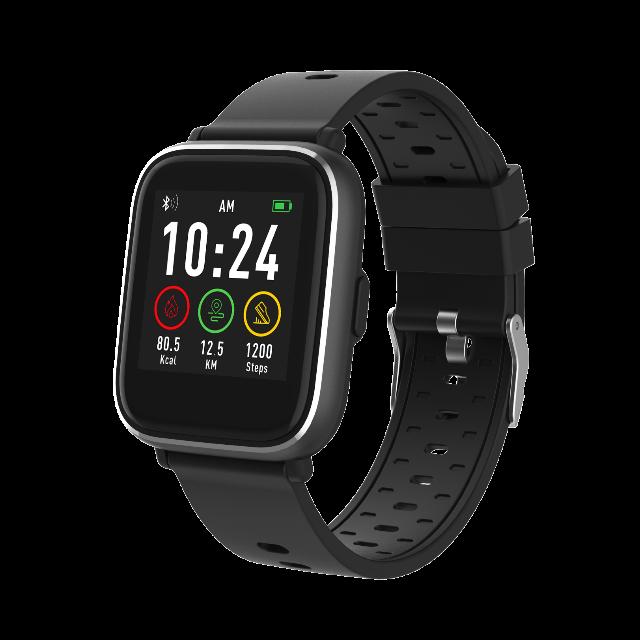 DENVER SW-161 Bluetooth Smartwatch mit Herzfrequenzsensor IP67 staub- und wasserdicht