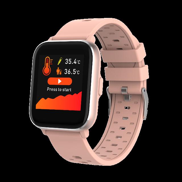 DENVER SW-163 Bluetooth Smartwatch mit Körpertemperatursensor und Herzfrequenzsensor IP67 staub- und wasserdicht