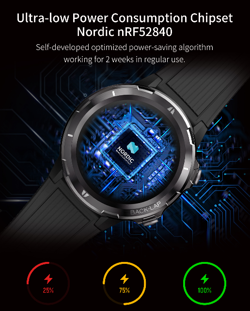 DENVER SW-350 Bluetooth Smart Watch mit integriertem Herzfrequenzsensor 1.3