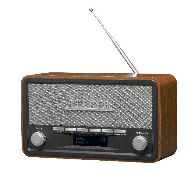 DENVER DAB-18 DAB + / FM-Radio mit Bluetooth-, Uhr- und Alarmfunktion 2 x 2 W Lautstärke