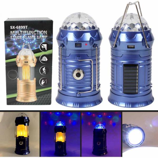 Lampe Taschenlampe Powerbank Campinglampe blau