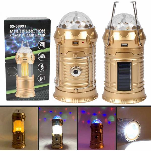 Lampe Taschenlampe Powerbank Campinglampe gold