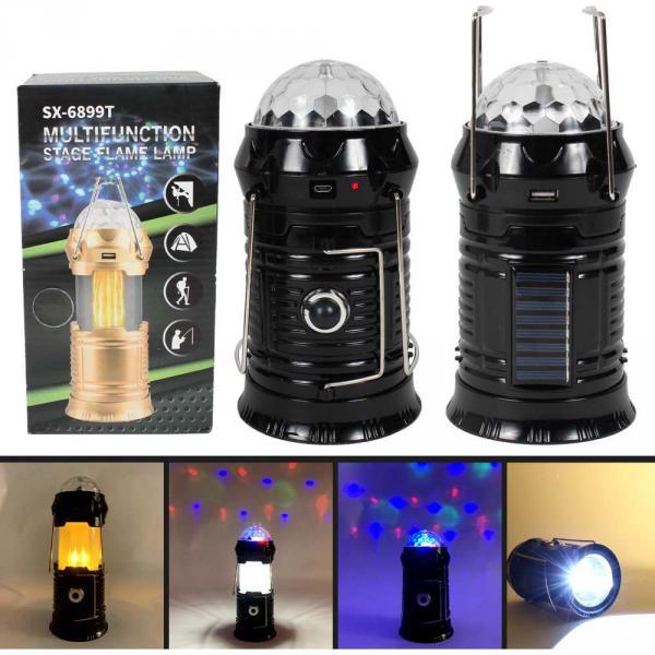 Lampe Taschenlampe Powerbank Campinglampe schwarz