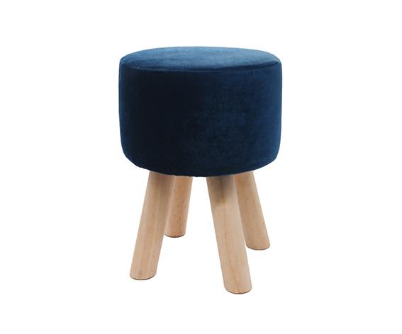 Hocker Blau 29x40cm rund