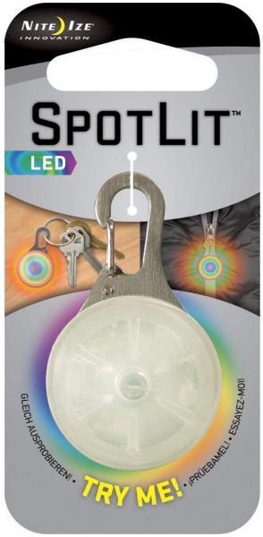 Nite Ize Halsband und Schlüsselanhänger Licht, Nite Ize SLG-06-07 Disc-O LED-Strahler bunte Disco LED - Absurd günstiger Posten mehr als
