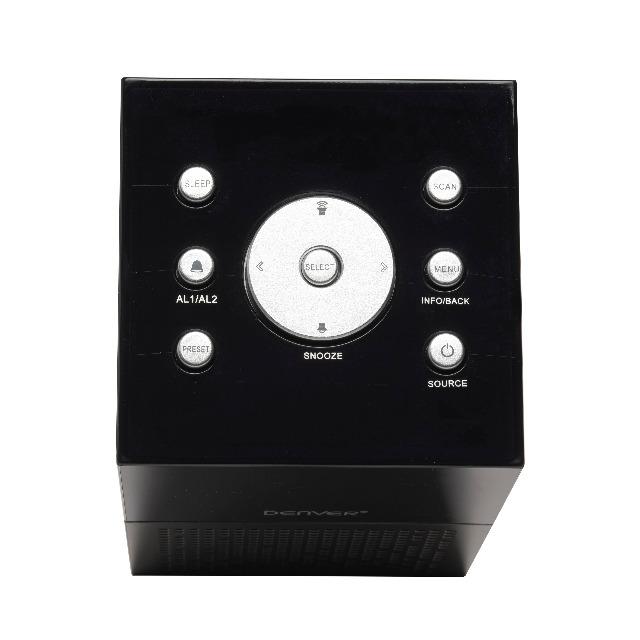 DENVER CRD-510 DAB + Clockradio mit USB zum Aufladen des Smartphones Auch UKW-Radio & Doppelalarmfunktion