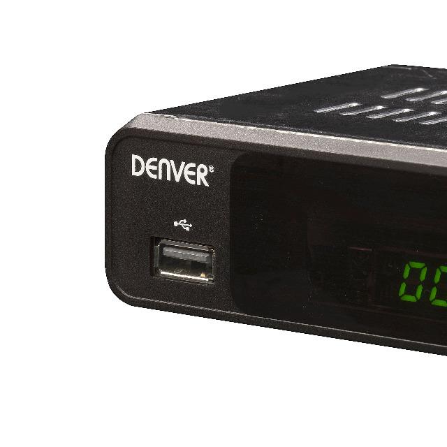 DENVER DVBS-206HD DVB-S2 Satellitenempfänger Settop Box mit HDMI Ausgang USB für die Medienwiedergabe