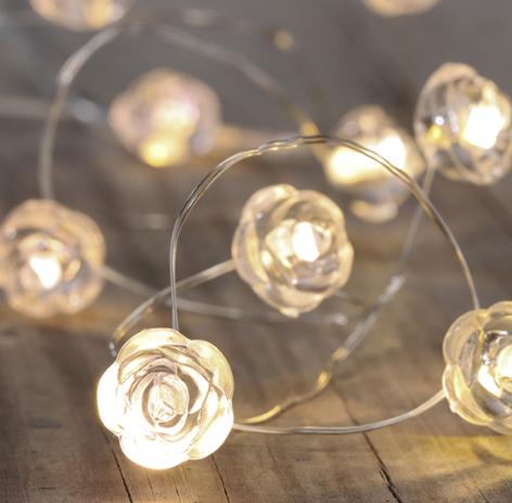 TOP LED BATTERIE - LICHTERKETTE MIT 10 LEDs   SCHÖNES DESIGN BATTERIEBETRIEBEN