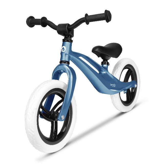 Lionelo Bart BLAU Laufrad Balance Bike ultraleicht nur 3kg Magnesiumrahmen Sicherheitslenkergriffe Tragegriff Fahrrad
