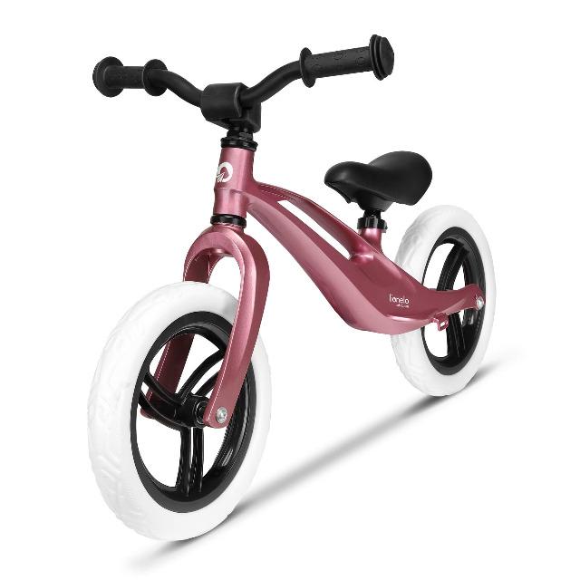 Lionelo Bart ROSA Laufrad Magnesiumrahmen 3kg, EVA-Schaumräder komfortable Fußstütze Fahrrad Balance Bike Roller
