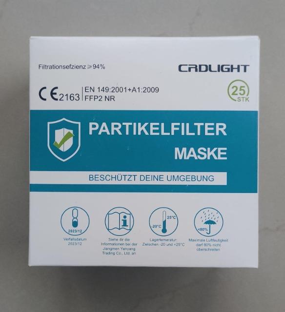 FFP2 CRDLIGHT faltbare Atemschutz Maske, einzeln verpackt und CE zertifiziert