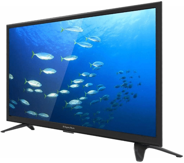 Krüger & Matz 32 Zoll HD DLED TV KM0232-T2 Triple Tuner DVB-T2/T/C USB CI+ Fernseher Fernsehgerät CI+ Slot für PayTV EEK: F