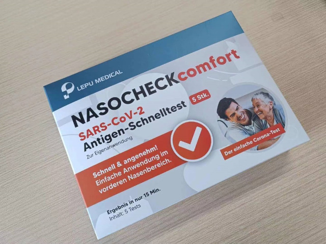 LEPU NASOCHECKcomfort Laien Selbsttest Covid-19 Corona Schnelltest zur Privatanwendung im vorderen Nasenbereich Nasentest