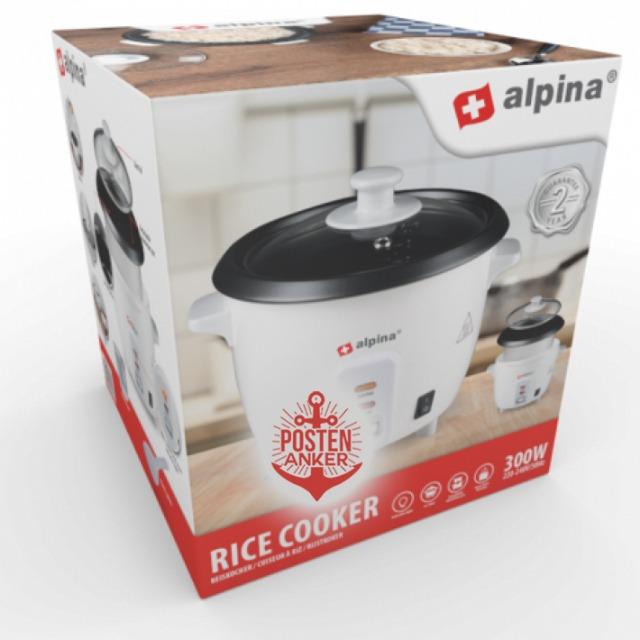 Reiskocher Reis Kocher Dampfgarer Warmhaltefunktion Rice Cocker 300 Watt 0,6 L Küchenmaschine