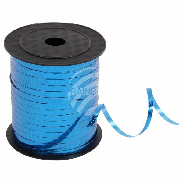 Geschenkband Dekoband blau Glitzer glänzend