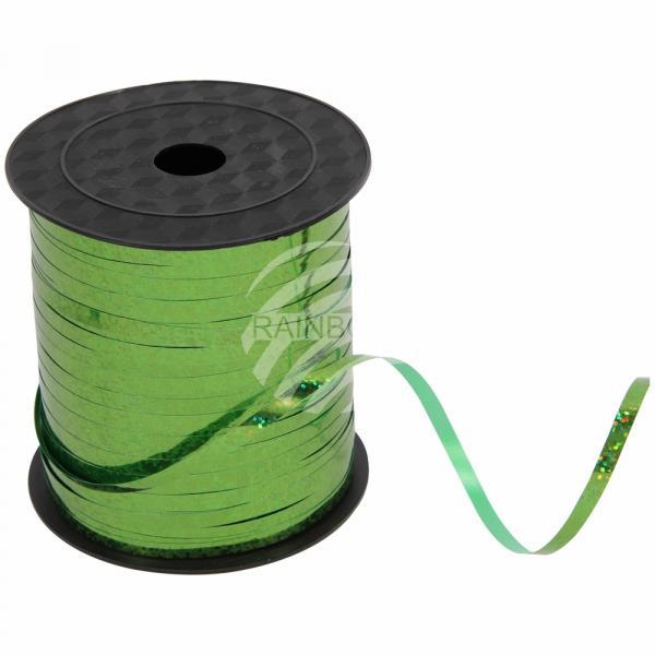 Geschenkband Dekoband grün Glitzer glänzend