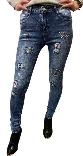 Damen Jeans mit Applikationen