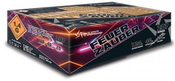 !Feuerzauber 207- Schuss MEGA Verbundbatterie Silvetser