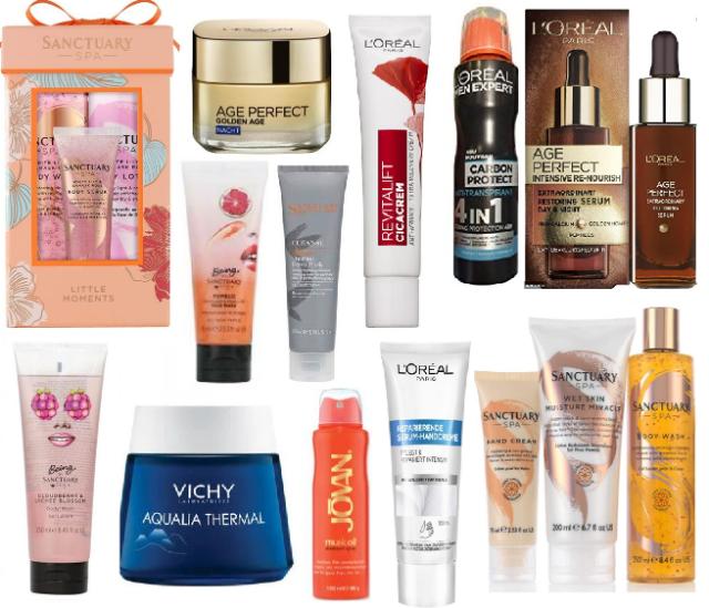!Hautpflege Produkte im neuen Mix   Garnier, Jovan, Loreal, Sally Hensen, Sanctuary Spa, Vichy