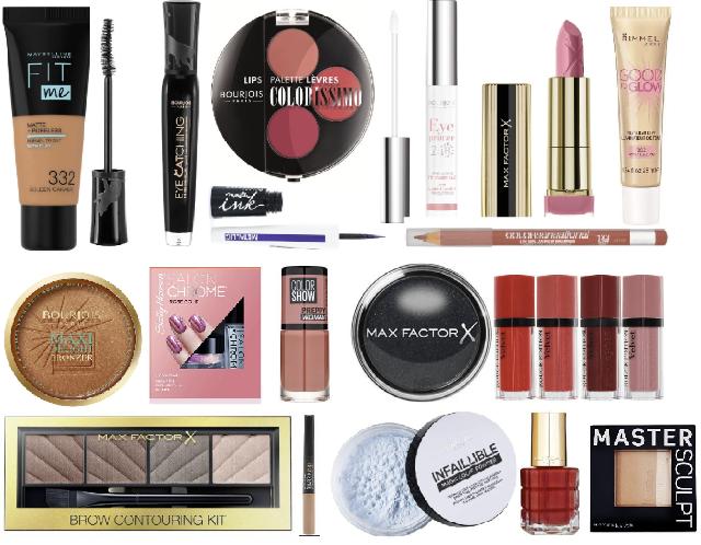Kosmetik in Mix: Loreal, Manhattan, Maybelline, Max Factor, Rimmel, NYX, Sally Hansen, Boujrous
