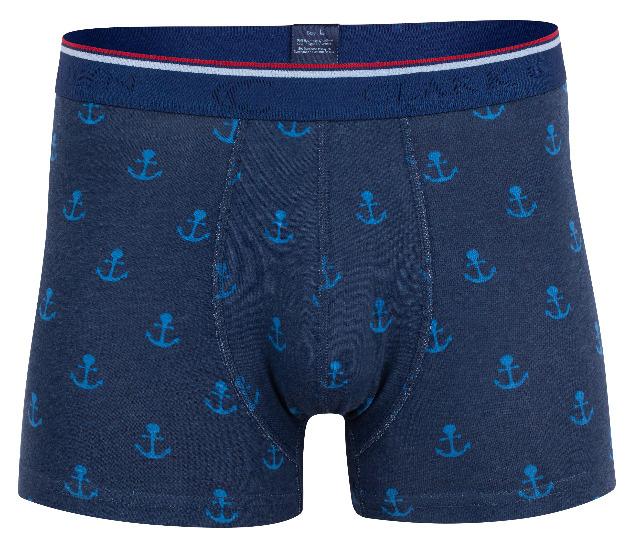 Clark Crown® Herren Pant aus Baumwolle mit maritimen All-Over-Print im 2er Pack
