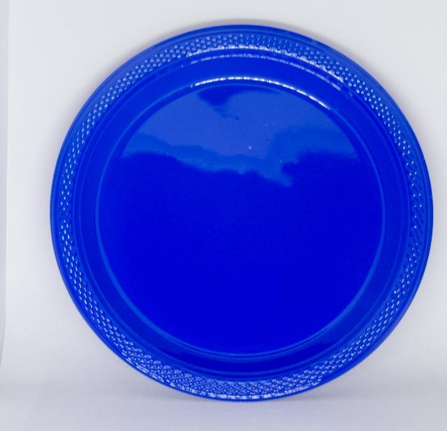 AMSCAN Einweg Party Teller 10er Set ca. 18cm, blau