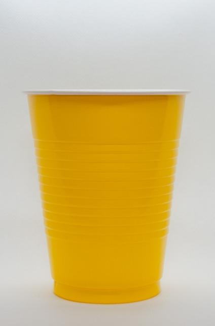 Einweg Trinkbecher 50 x 473 ml Farbe Sonnengelb Party