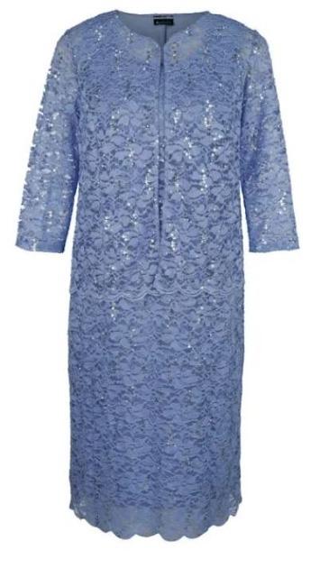!Blazer und Kleid aus floraler Spitze und Pailletten