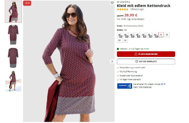 !Kleid mit edlem Kettendruck