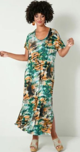 !Maxikleid mit angesagtem Batik-Print allover