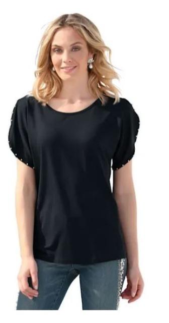 !Shirt mit Perlendekoration